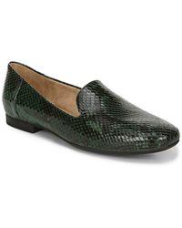Naturalizer Kit Snakeskin Embossed Leather Loafer - Green