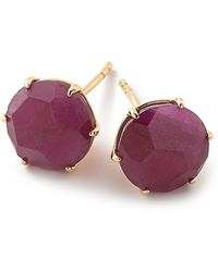 Ippolita - Rock Candy 18k Yellow Gold Prong Set Ruby Stud Earrings - Lyst