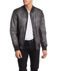 Lamarque Rangey Leather Bomber Jacket - Gray
