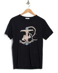 Valentino Tattoo Stamp T-shirt - Blue