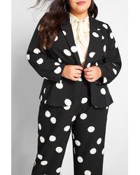 ModCloth Timeless Tailoring Polka Dot Blazer - Black