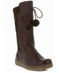 Spring Step - Silves Pompom Boot - Lyst