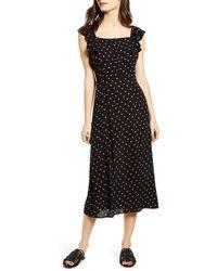 Billabong Love Turned Up Midi Dress - Black