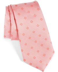 Calibrate - Oxford Geometric Silk Tie - Lyst