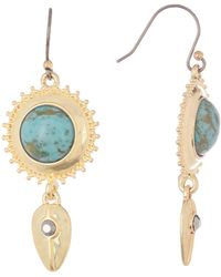 Lucky Brand - Faux Turquoise Pave Drop Earrings - Lyst