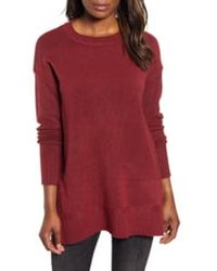 Caslon Caslon Side Snap Tunic Sweater - Red