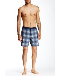 John Varvatos | Printed Cargo Swimming Trunk | Lyst