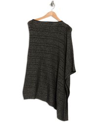 Portolano Cowl Neck Lurex Knit Poncho In Black At Nordstrom Rack
