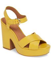 Kate Spade Grace Platform Sandal - Yellow