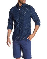 Jack Spade - Long Sleeve Diamond Quad Print Trim Fit Shirt - Lyst