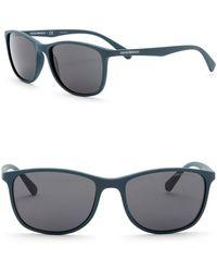37995a76501a Emporio Armani - 56mm Rectangular Sunglasses - Lyst