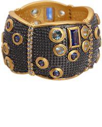 Freida Rothman - Bezel Set Cz & Multigrain Trim Scallop Shape Cigar Ring - Size 6 - Lyst