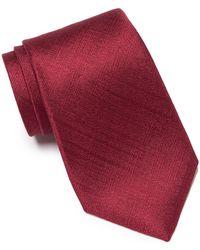 Calvin Klein - Basketweave Solid Silk Tie - Lyst