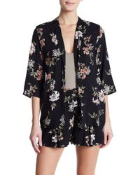Angie - Floral Open Front Blazer - Lyst