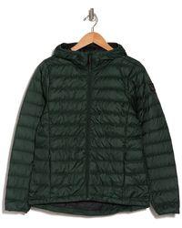 Lolë Emeline Hooded Down Puffer Jacket - Green