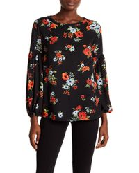 Philosophy Apparel - Floral Flare Sleeve Blouse - Lyst