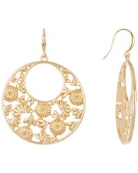 Trina Turk - Cutout Flower Hoop Dangle Earrings - Lyst