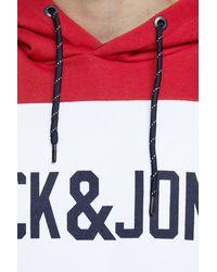 Jack & Jones Logo Colorblock Hooded Sweatshirt - Multicolor