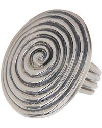 Simon Sebbag - Sterling Silver Oval Swirl Ring - Lyst