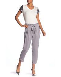 Nanette Nanette Lepore Satin Woven Pants - Purple