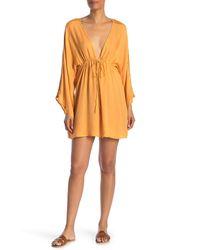 Boho Me Plunge V-neck Cover-up Tunic - Orange