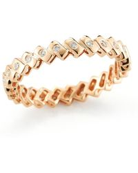Dana Rebecca - 14k Rose Gold Diamond Sophia Ryan Stacking Band - 0.19 Ctw - Lyst