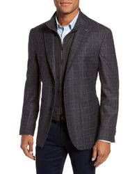 Ted Baker - Trim Fit Plaid Wool Sport Coat - Lyst