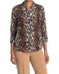 L'Agence Ryan Leopard Print Silk Shirt - Black