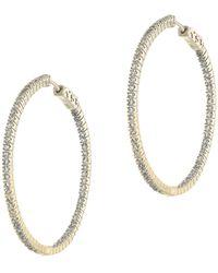 CZ by Kenneth Jay Lane - Round-cut Cz Hoop Earrings - Lyst