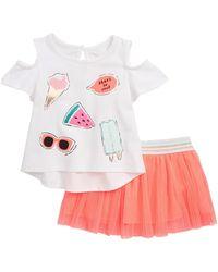 Kate Spade - So Cool Cold Shoulder Tee & Skirt Set (baby Girls) - Lyst