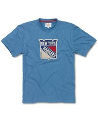 Red Jacket Nhl New York Rangers Short Sleeve T-shirt - Blue