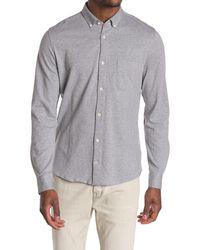 NN07 Jersey Button Down Trim Fit Shirt - Gray