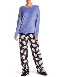 Hue - Flippers Fleece 3-piece Pajama Set - Lyst
