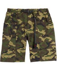 Gramicci Shell Gear Camo Belted Cargo Shorts - Green