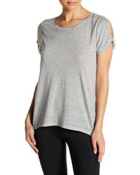 Marc New York - Twisted Shoulder Cutout Tee - Lyst