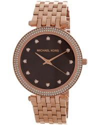 MICHAEL Michael Kors - Women's Darci Crystal Embellished Bracelet Watch, 39mm - Lyst
