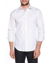 Bugatchi - Slim Fit Windowpane Check Sport Shirt - Lyst