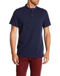 Kenneth Cole - Waffle Knit Henley Shirt - Lyst