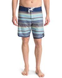 Ezekiel Firestone Stripe Board Shorts - Blue