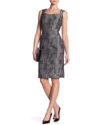 Kasper - Sleeveless Textured Woven Dress - Lyst