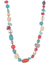 Peyote Bird - Southwest Gemstone Beaded Necklace - Lyst