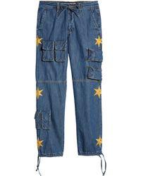 BBCICECREAM Bb Half Moon Jean - Blue