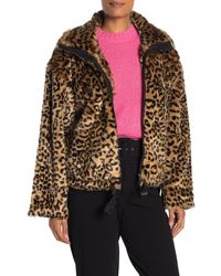 Rebecca Minkoff Brigit Faux Fur Leopard Print Jacket - Multicolor