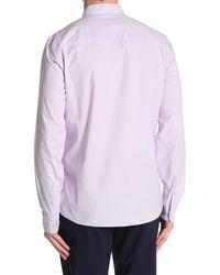 TOPMAN Solid Oxford Shirt - Purple