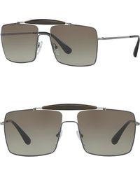 3e1dd094792 Prada - 58mm Square Sunglasses - Lyst
