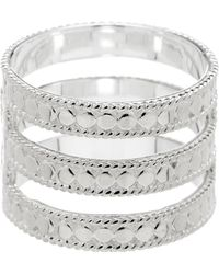 Anna Beck - Sterling Silver Gili Wire Triple Bar Ring - Lyst