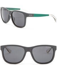 Armani Exchange - 57mm Square Sunglasses - Lyst