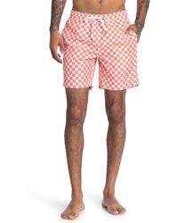 "Onia Charles Checker Print 7"" Swim Trunks - Multicolor"