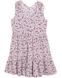 Caslon Ruffle Hem V-neck Sun Dress - Pink