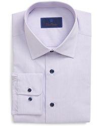David Donahue Regular Fit Dress Shirt - Multicolor